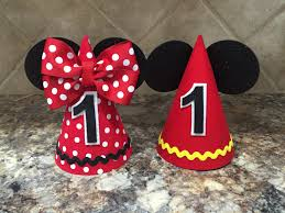 mickey mouse birthday hat and minnie mouse birthday hat first