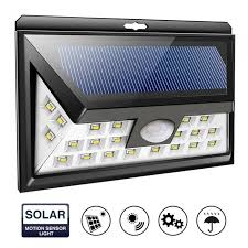 24 led solar light lamp ip65 waterproof outdoor wide angle security motion sensor with 3 modes