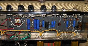fender bassman next up i modified the bias circuit making it adjustable i removed the 56k resistor and replaced it a 50k linear potentiometer wired as a rheostat