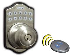 electronic digital keyless latchbolt outside view antique br with remote control