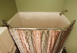 corner shower curtain rod square