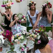 Image result for floral crown hen party