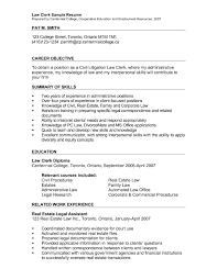 Legal Assistant Resume Objective Sample Family Law Clerk Records