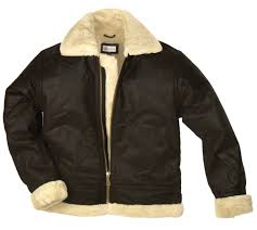 fur lined leather flying jacket