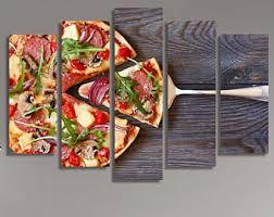 Restaurant Dcor, Food Print, Food Photography, Canvas Art, Canvas Print,  Pizza