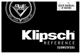 Klipsch R-80SWi Wireless Subwoofer Owner's Manual