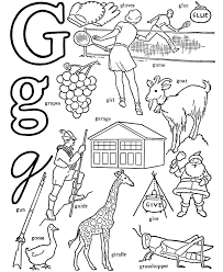G Word Coloring Pages Only Coloring Pages