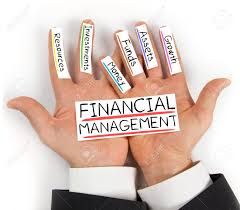 Finnancial Management Photo Of Hands Holding Paper Cards With Financial Management Stock