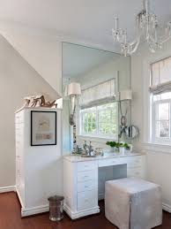 white mirrored dressing table for small bedroom design