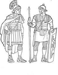 Kleurplaten Divers Romeinse Soldaten Kleurplatendatabase