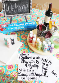diy lettered canvas sign and at home painting party tips