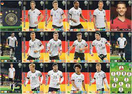 Panini ADRENALYN XL UEFA Euro 2020 Germany Team Set All 18 Cards - Euros:  Amazon.de: Spielzeug