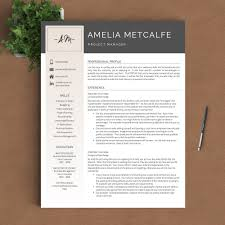 Creative Resume Template The Amelia