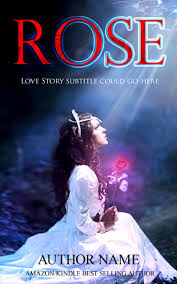 romance book cover design rose front