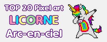 Repostando por eu ser burro e ter postado as dez da noite. Top 20 Des Pixel Art Licorne Arc En Ciel Licorne Addict