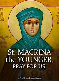 Saint of the Day – July 19 – St Macrina the Younger (c 330-379) Nun –  Daughter of St Basil the Elder & St Emmelia, Sister of Sts Basil… |  Sisters, Younger, St basil