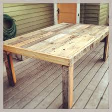 diy pallet outdoor dinning table. shemu0027s diy salvaged free materials outdoor dinner table and benches all made from including the nails screws diy pallet dinning d