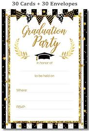Invitation For Graduation Graduation Party Invitations Cards With Envelopes 2019 Grad Congrats Announcements Supplies 30ct