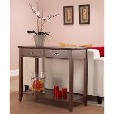 foremost sheridan walnut storage console table