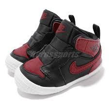 Details About Nike Jordan 1 Crib Bootie I Aj1 Bred Black Red Td Toddler Infant Shoe At3745 023