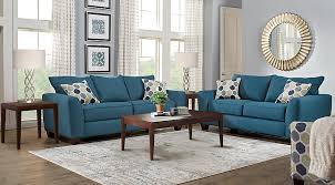Bonita Springs Blue 40 Pc Living Room Living Room Sets Blue Fascinating Living Room Pc