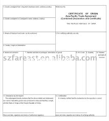 Certificate Of Origin Templates Joint Venture Agreements Sample