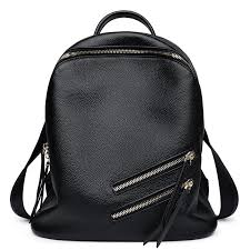 womens black leather backpack cw207005 cwmalls com