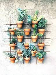 hanging terracotta pots wall ceramic plant