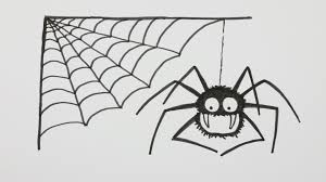 web drawing how to draw a halloween spider with spiderweb cartoon comic doodle