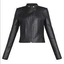 bcbgmaxazria jackets blazers bcbgmaxazria misa faux leather moto jacket