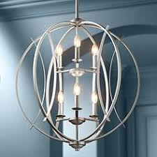 candle pendant lighting. Brushed Nickel Spherical 24 Candle Pendant Lighting