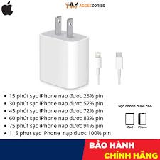 HCM Bộ sạc nhanh 18W dùng cho Pro Max, iPhone 11, iPhone XS Max, iPhone XS,  iPhone X, iPhone 8 Plus, iPhone 8 1 ĐỔI 1