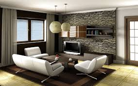 Modern Decorated Living Rooms Living Room White Tv Wall And Purple Sofa For Living Room D