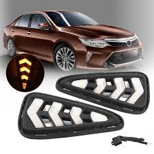 2017 Toyota Camry Led Fog Lights Pair Front Car Led Drl Daytime Running Lights Fog Lights Lamps For Toyota Camry 2015 2017