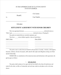 Child Custody Agreement Without Court Template Metierlink Com