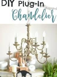 no light chandelier