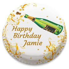 Personalised Champagne Birthday Cake From 1499 Bakerdays