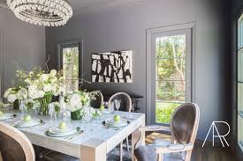 gray and white dining room ideas. alyssa rosenheck: blond wood and quartzite dining table with gunmetal gray chairs white room ideas s