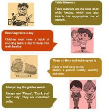 Safety Habits Chart Good Habits And Safety Rules Lesson For Class 1
