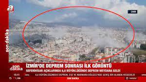 Son dakika! İzmir'deki 6,6 büyüklüğündeki deprem anı kamerada | Video  videosunu izle | Son D
