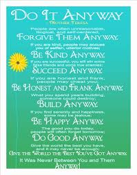 Mother Teresa Quotes Love Anyway Cool Inspirational Quotes Do It Anyway Best Mother Teresa Do It Anyway