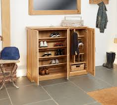 baumhaus mobel solid oak fully. Baumhaus Mobel Oak 3 Door Extra Large Shoe Cabinet - Upto 20 Pairs Solid Fully R