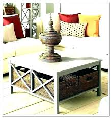 living room table with storage coffee tables baskets underneath under basket black round center