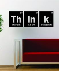 Small Picture Think Periodic Table Science Design Decal Sticker Wall Vinyl Decor