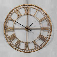 skeleton wall clock gold large all
