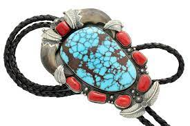 Freddie Maloney, Large, Egyptian Turquoise, Navajo Handmade, Bolo – Perry  Null Trading Co