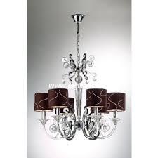 6 lights black shade chrome iron crystal chandelier lighting