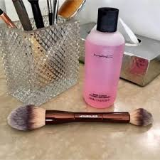 as much as its important to get rid of bacteria built up grease and grime clean brushes also help in keeping the bristles soft and clean so my makeup goes