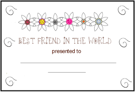 Small Picture Best Friend The World Certificate Coloring Pages Bebo Pandco