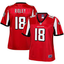 Red Player Women's Falcons Nfl Atlanta Ridley Line Calvin Pro Jersey